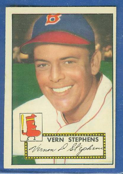 1952 Topps #.84 Vern Stephens [#a] (Boston Braves) Baseball cards value
