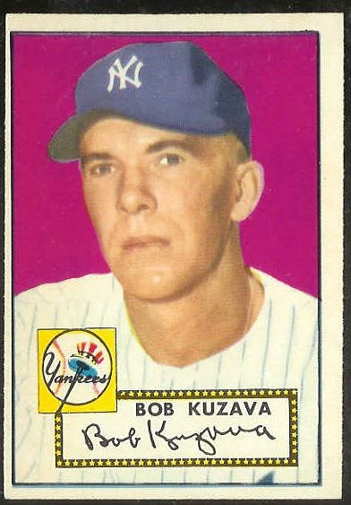 1952 Topps #.85 Bob Kuzava [#a] (Yankees) Baseball cards value