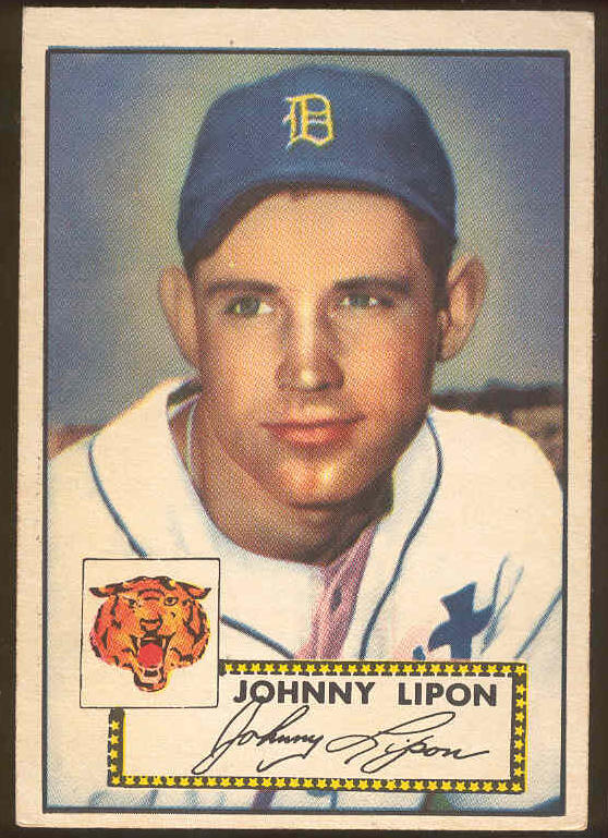 1952 Topps #.89 Johnny Lipon (Tigers) Baseball cards value