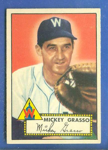 1952 Topps #.90 Mickey Grasso (Senators) Baseball cards value