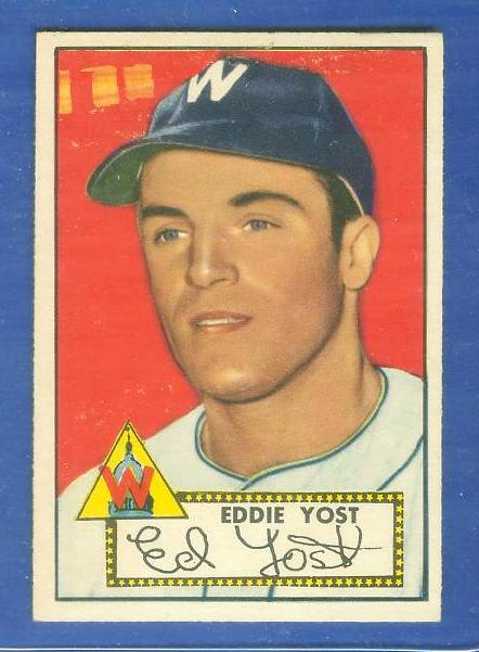 1952 Topps #123 Eddie Yost (Senators) Baseball cards value
