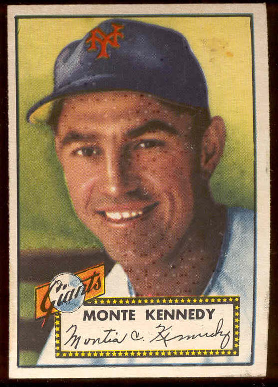 1952 Topps #124 Monte Kennedy (NY Giants) Baseball cards value