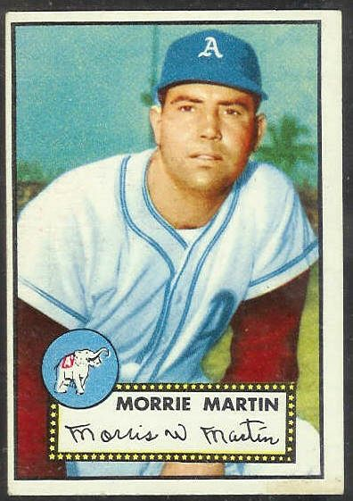 1952 Topps #131 Morrie Martin [#b] (Philadelphia A's) Baseball cards value
