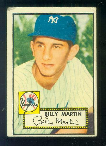 1952 Topps #175 Billy Martin ROOKIE (Yankees) Baseball cards value