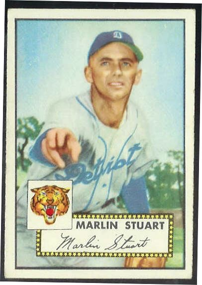 1952 Topps #208 Marlin Stuart [#a] (Tigers) Baseball cards value