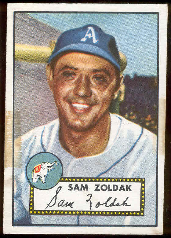 1952 Topps #231 Sam Zoldak (Philadelphia A's) Baseball cards value