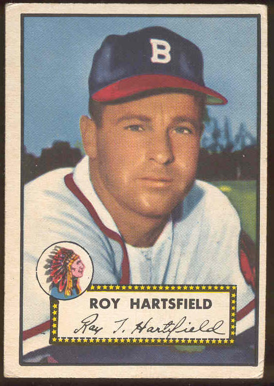 1952 Topps #264 Roy Hartsfield (Boston Braves) Baseball cards value