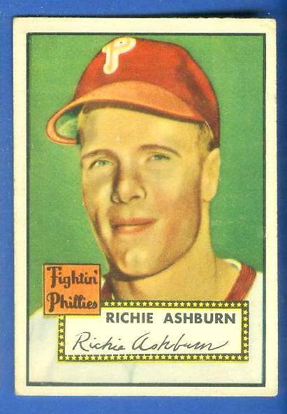 1952 Topps #216 Richie Ashburn (Phillies) Baseball cards value