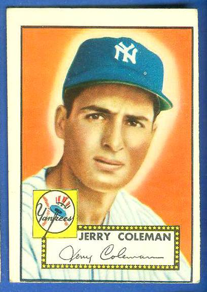 1952 Topps #237 Jerry Coleman (Yankees) Baseball cards value