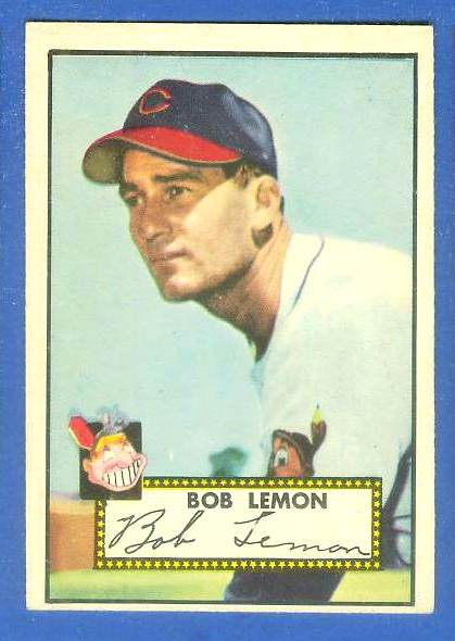 1952 Topps #268 Bob Lemon [#a] (Indians) Baseball cards value