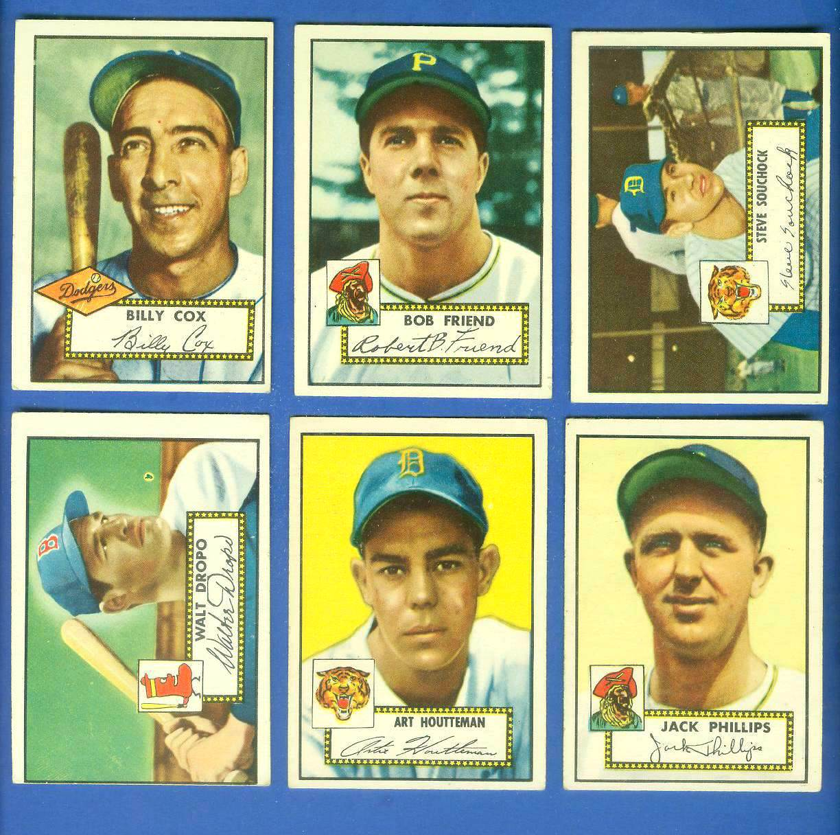 1952 Topps #232 Billy Cox (Brooklyn Dodgers) Baseball cards value