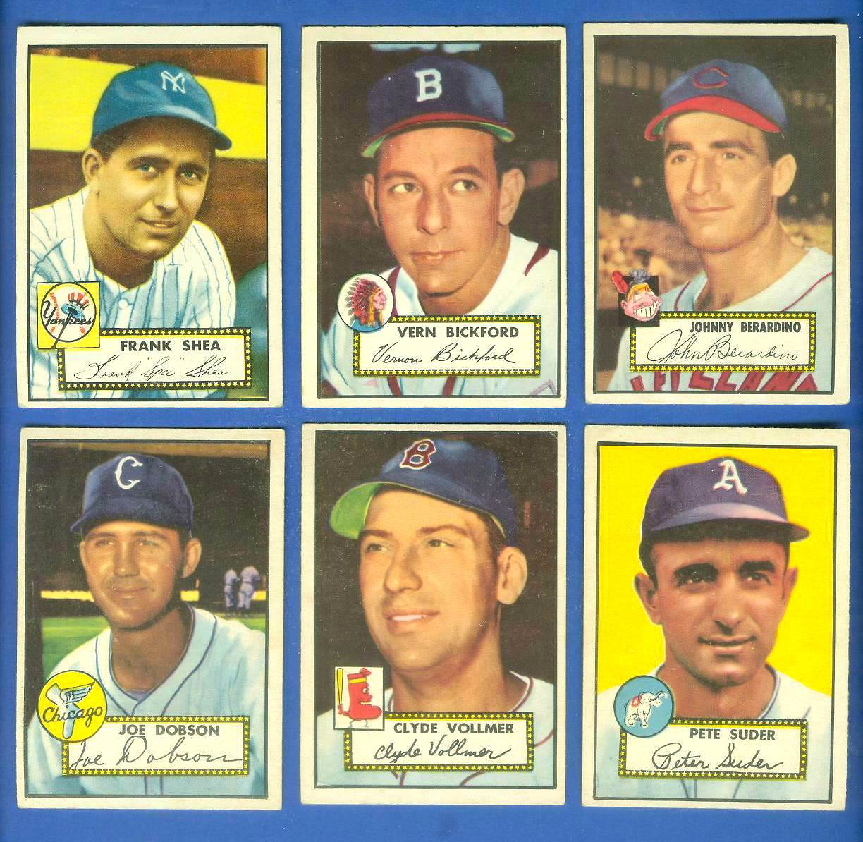 1952 Topps #253 Johnny Berardino (Indians) Baseball cards value