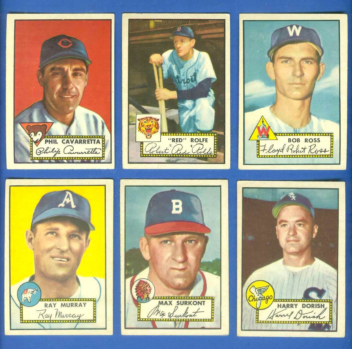 1952 Topps #298 Bob Ross SHORT PRINT [#a] (Senators) Baseball cards value