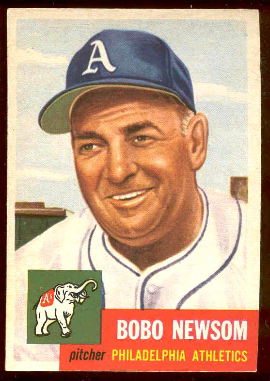1953 Topps #.15 Bobo Newsom (Philadelphia A's) Baseball cards value
