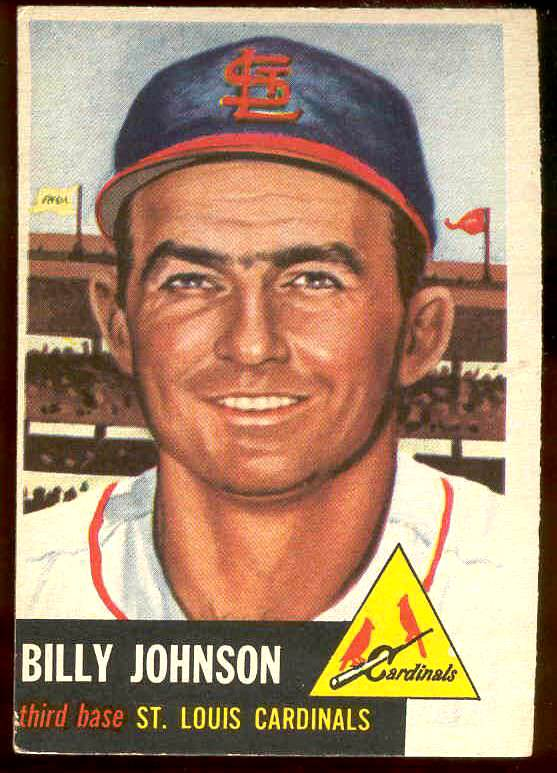 1953 Topps #.21 Billy Johnson (Cardinals) Baseball cards value