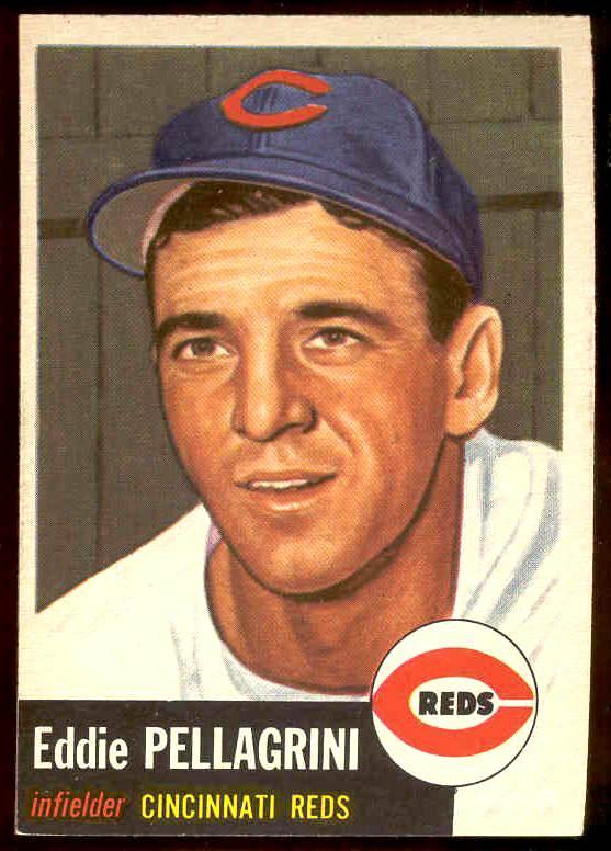 1953 Topps #.28 Eddie Pellagrini (Reds) Baseball cards value