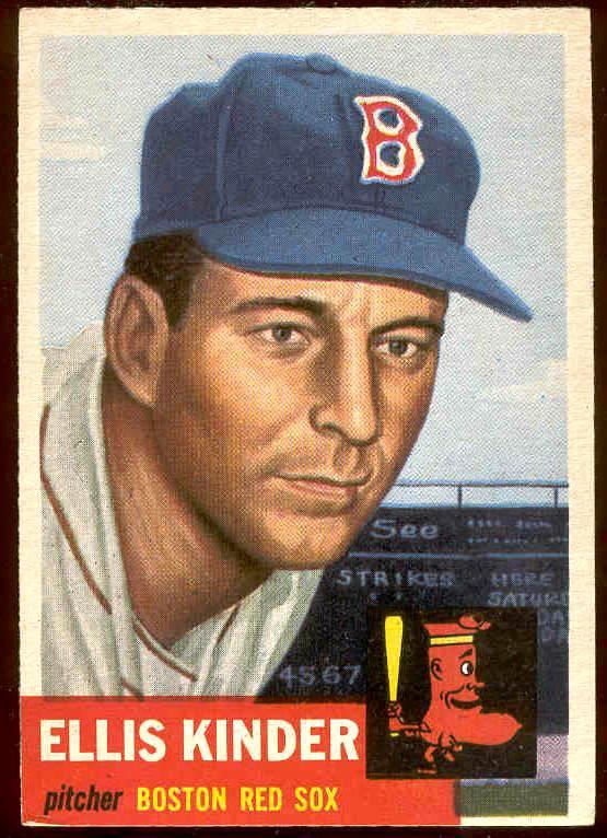 1953 Topps #.44 Ellis Kinder SHORT PRINT (Red Sox) Baseball cards value