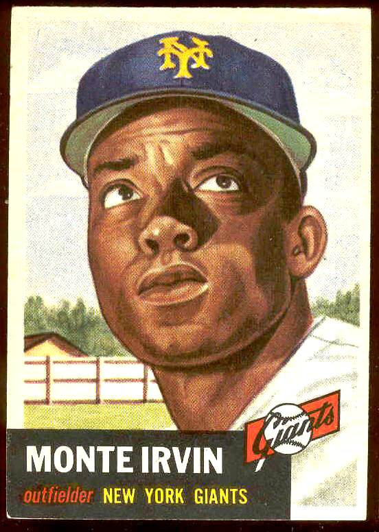 1953 Topps #.62 Monte Irvin (NY Giants) Baseball cards value