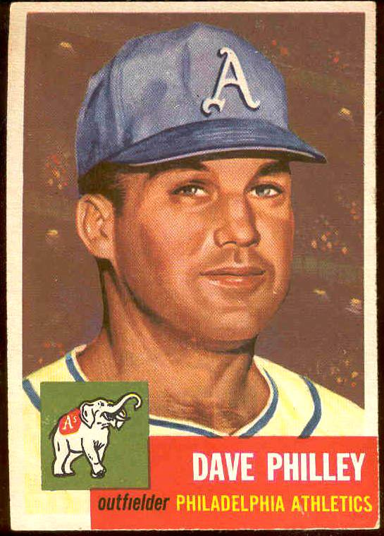 1953 Topps #.64 Dave Philley (Philadelphia A's) Baseball cards value