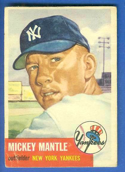 1953 Topps #.82 Mickey Mantle (Yankees) Baseball cards value