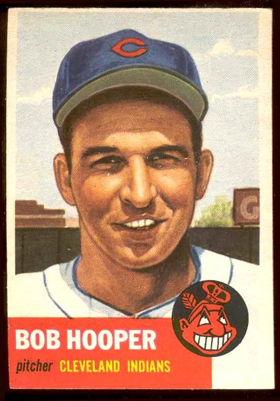 1953 Topps #.84 Bob Hooper (Indians) Baseball cards value