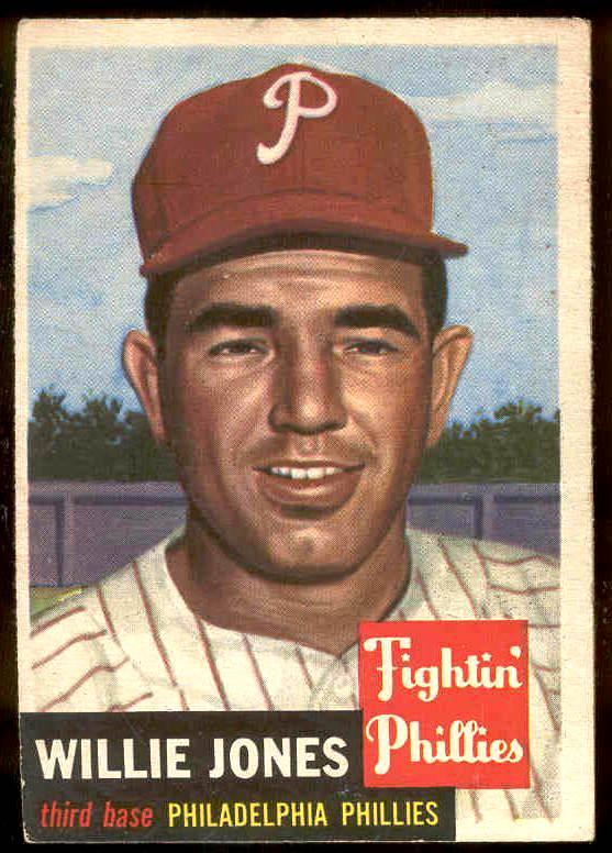 1953 Topps #.88 Willie Jones (Phillies) Baseball cards value