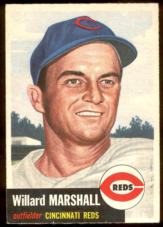 1953 Topps #.95 Willard Marshall (Reds) Baseball cards value