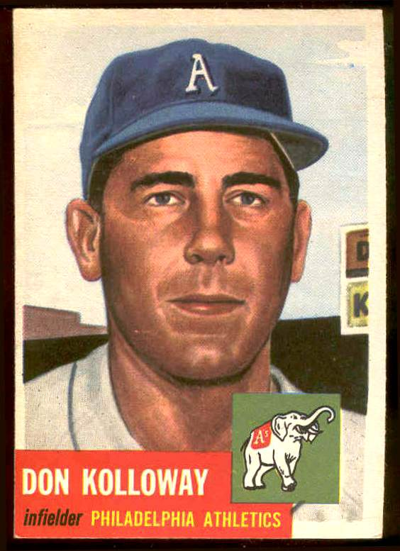 1953 Topps #.97 Don Kolloway (Philadelphia A's) Baseball cards value