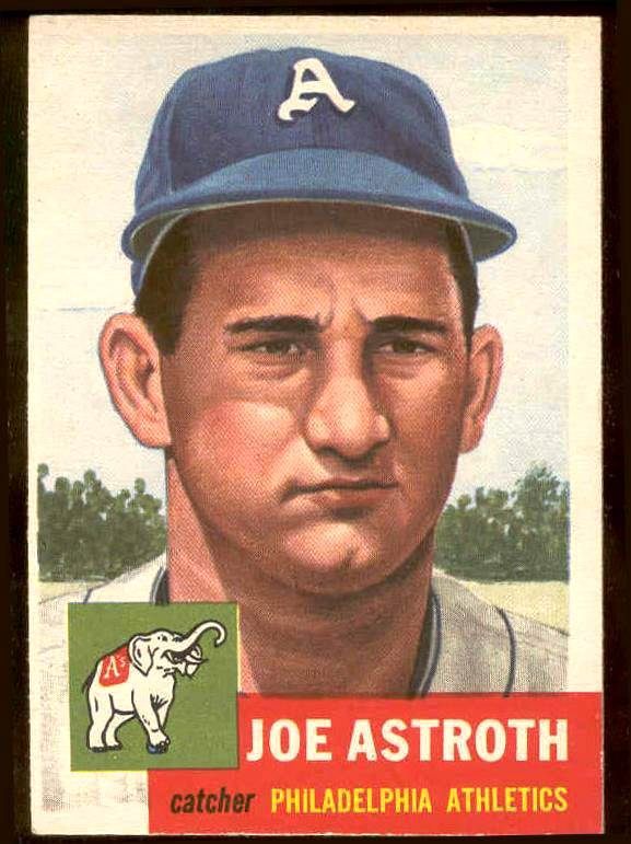 1953 Topps #103 Joe Astroth (Philadelphia A's) Baseball cards value