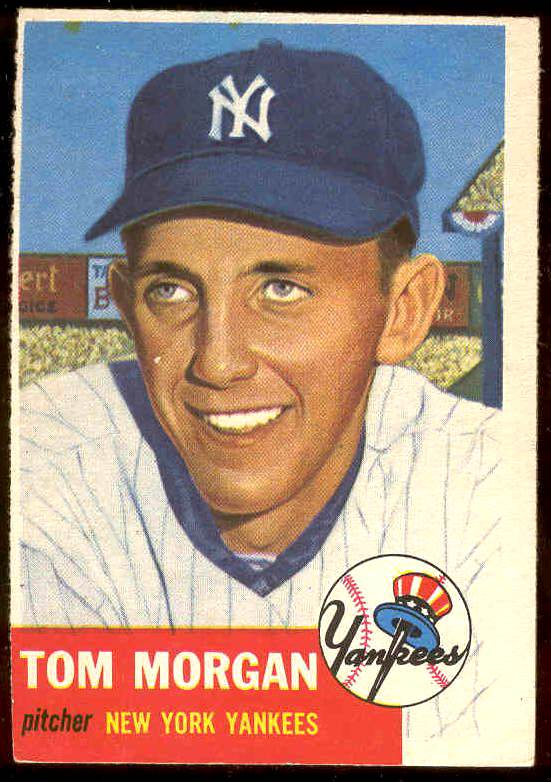 1953 Topps #132 Tom Morgan (Yankees) Baseball cards value