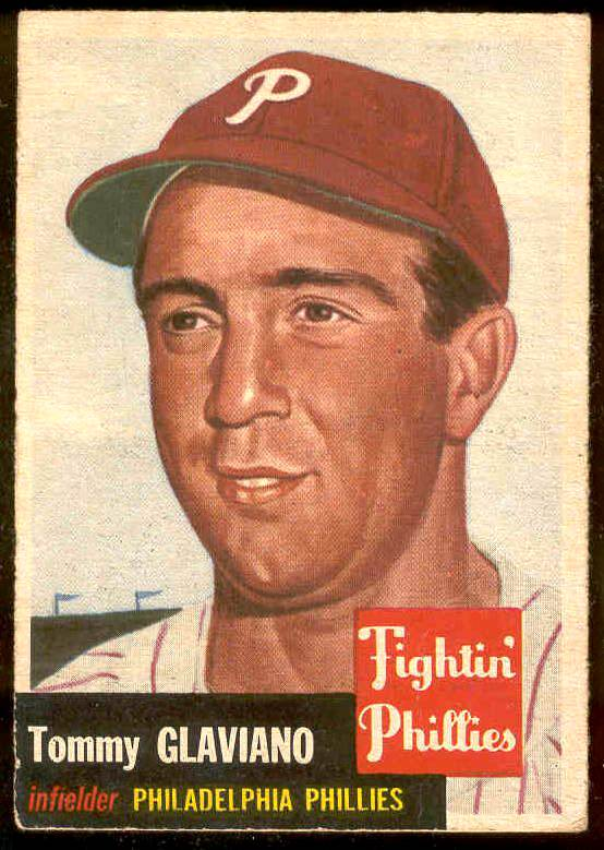 1953 Topps #140 Tommy Glaviano (Phillies) Baseball cards value