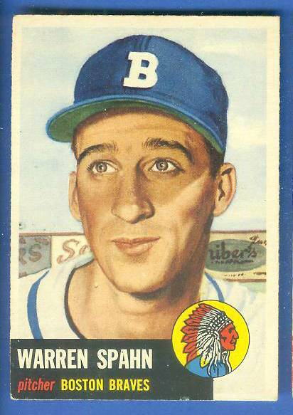 1953 Topps #147 Warren Spahn (Braves) Baseball cards value