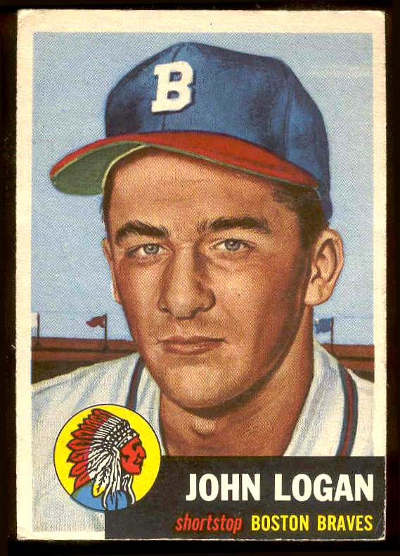 1953 Topps #158 John Logan ROOKIE (Braves) Baseball cards value