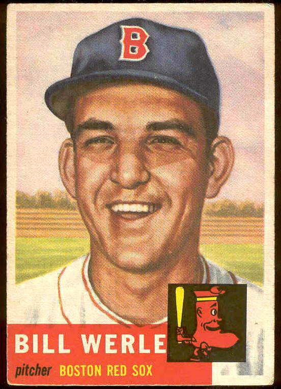 1953 Topps #170 Bill Werle (Red Sox) Baseball cards value