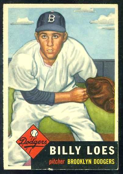 1953 Topps #174 Billy Loes (Brooklyn Dodgers) Baseball cards value