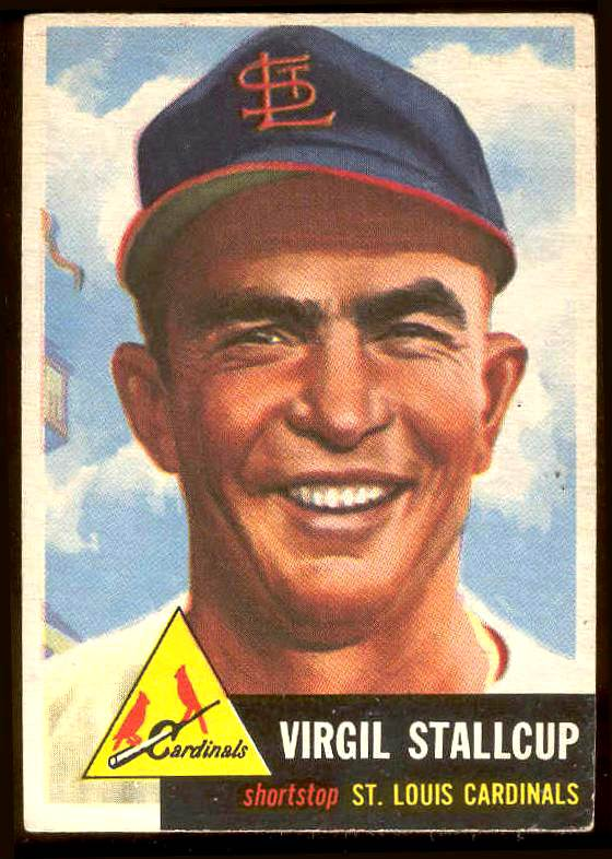 1953 Topps #180 Virgil Stallcup (Cardinals) Baseball cards value
