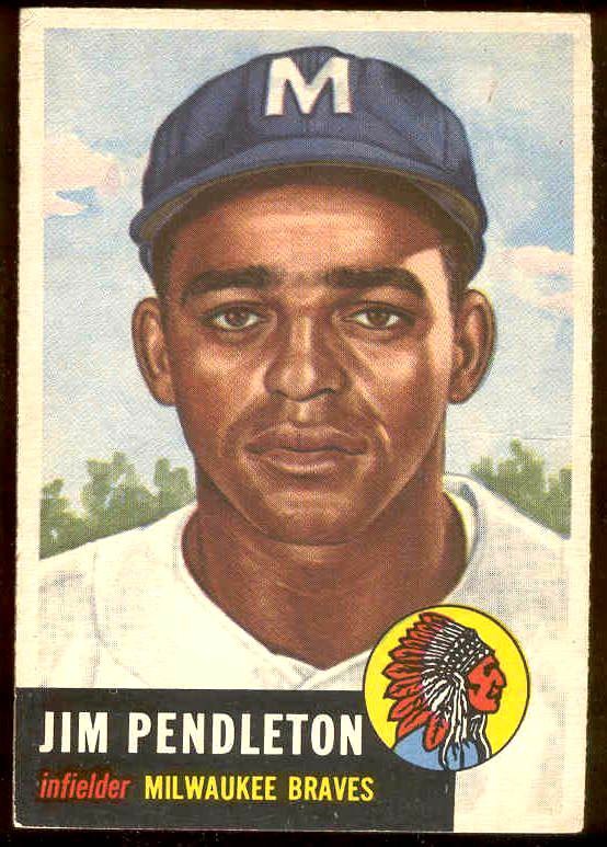 1953 Topps #185 Jim Pendleton (Braves) Baseball cards value