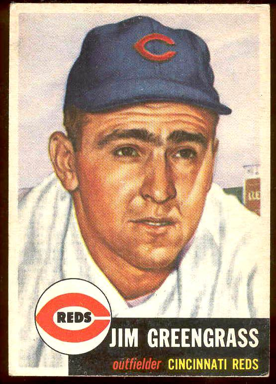 1953 Topps #209 Jim Greengrass (Reds) Baseball cards value