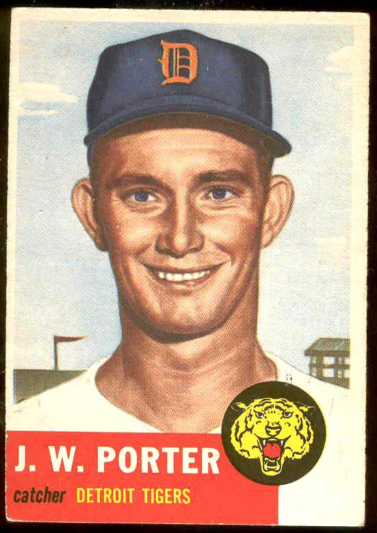 1953 Topps #211 J. W. Porter (Tigers) Baseball cards value