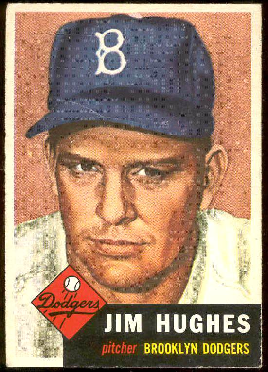 1953 Topps #216 Jim Hughes (Brooklyn Dodgers) Baseball cards value