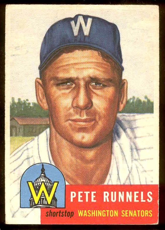 1953 Topps #219 Pete Runnels UER (Senators) Baseball cards value