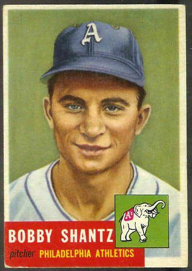 1953 Topps #225 Bobby Shantz SCARCE HIGH #.[#a] (Philadelphia A's) Baseball cards value