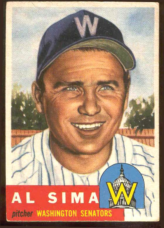 1953 Topps #241 Al Sima SCARCE HIGH #.(Senators) Baseball cards value