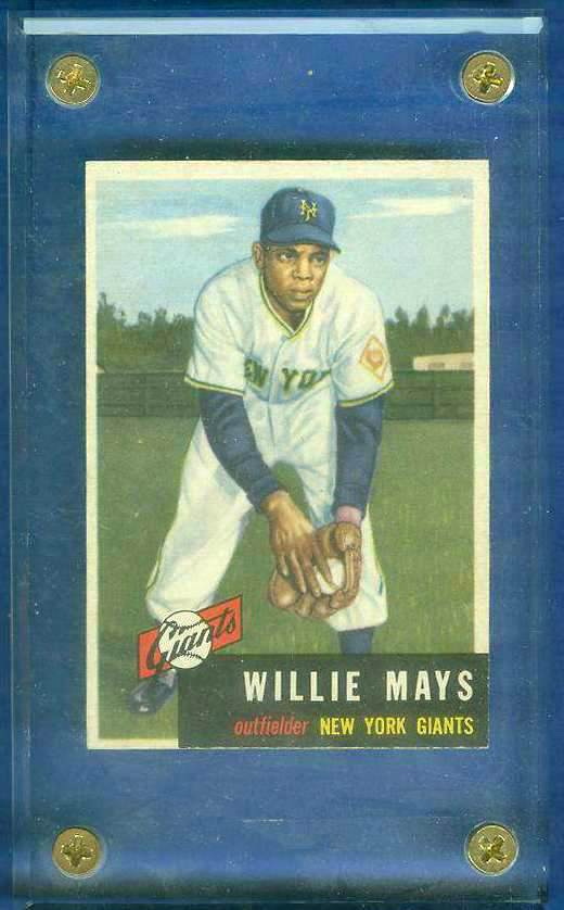 1953 Topps #244 Willie Mays SCARCE HIGH #.[#a] (NY Giants) Baseball cards value