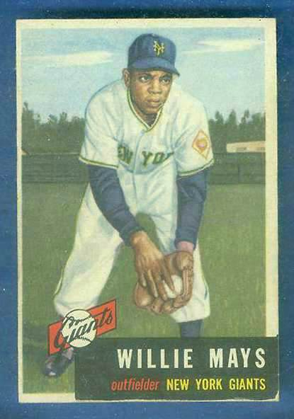 1953 Topps #244 Willie Mays SCARCE HIGH #.[#c] (NY Giants) Baseball cards value