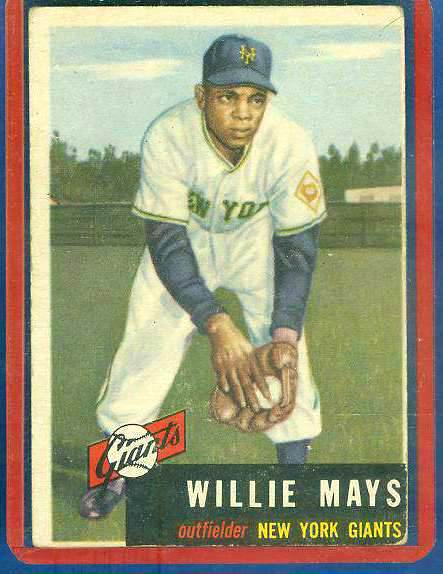 1953 Topps #244 Willie Mays SCARCE HIGH #.[#d] (NY Giants) Baseball cards value