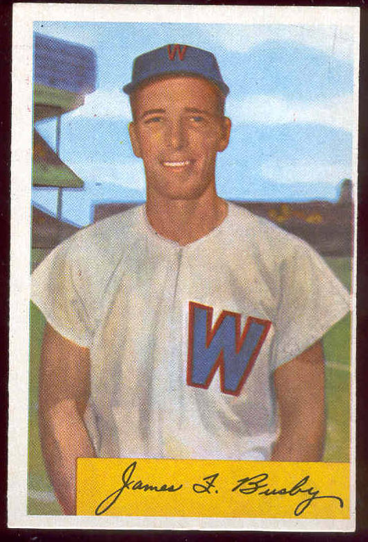 1954 Bowman #..8 James F. Busby (Senators) Baseball cards value