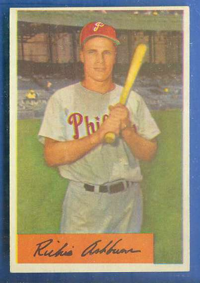 1954 Bowman #.15 Richie Ashburn [#a] (Phillies) Baseball cards value