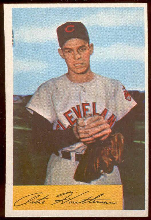 1954 Bowman #.20 Artie Houtteman (Indians) Baseball cards value