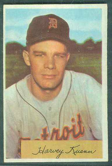 1954 Bowman #.23 Harvey Kuenn ROOKIE [#b] (Tigers) Baseball cards value